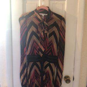 Diane Von Furstenburg silk shirt dress